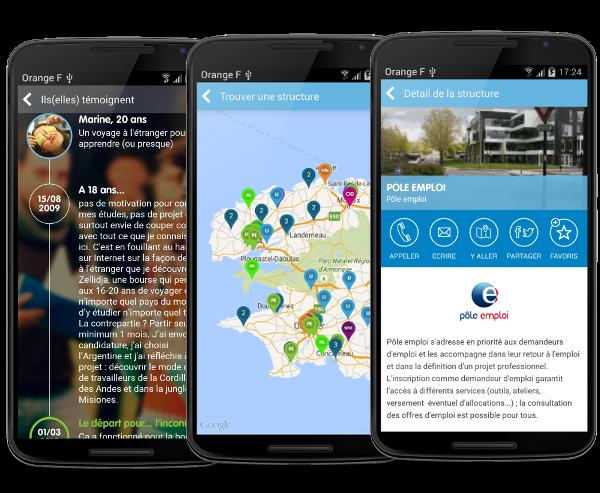 Appli mobile android CRIJ Bretagne