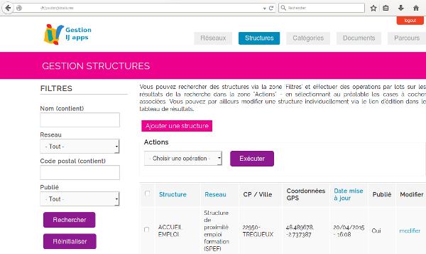 Site drupal accès mobile natif